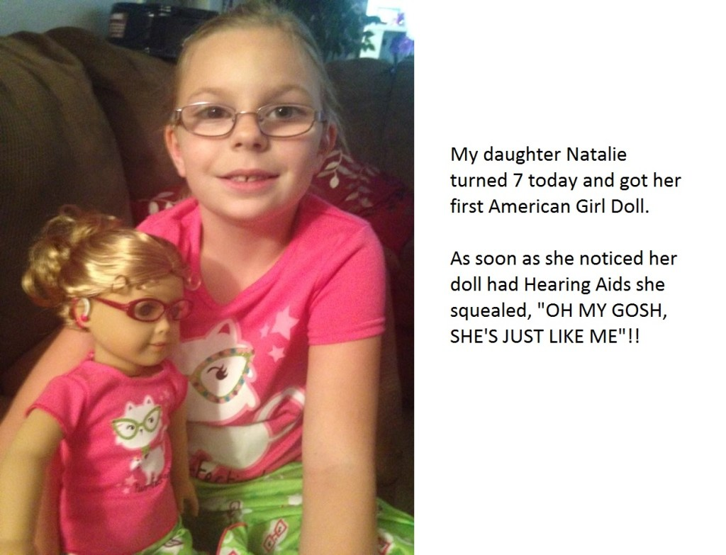 natalie and her doll with hearing aids